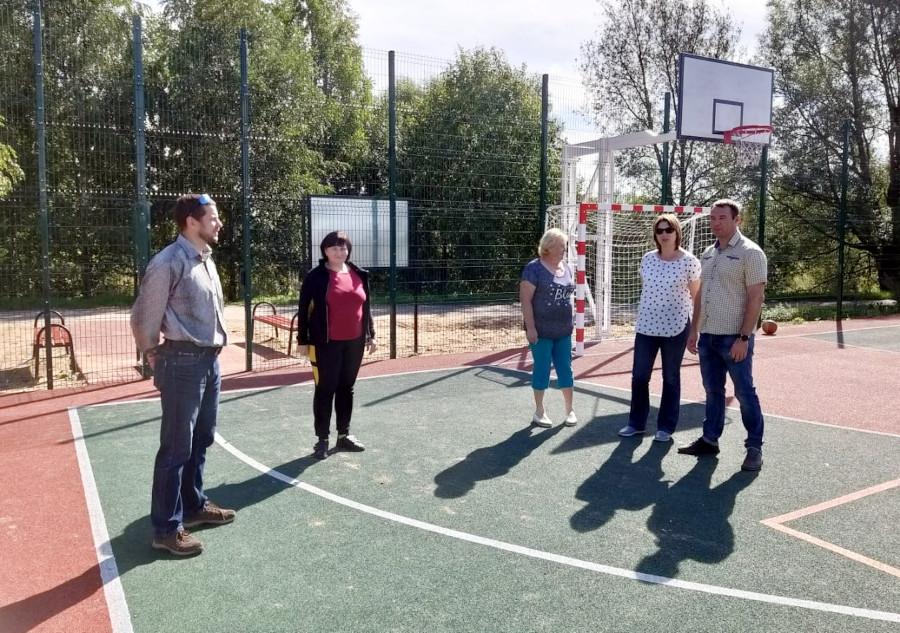 В Воздвиженском начала работу многофункциональная спортивная площадка